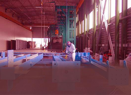 Линии покраски для металлоконструкций